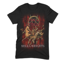 Load image into Gallery viewer, HELLA WEIGHTS Tee (Black/Flesh/Blood)