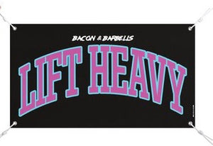 LIFT HEAVY COLLEGIATE Banner (Black/Red/Yellow)
