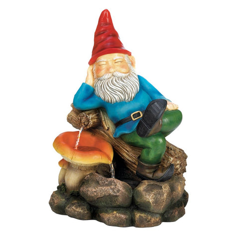 Relaxing Gnome Water Fountain