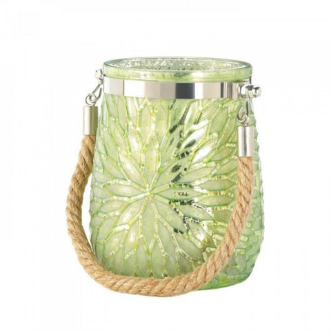 Green Flower Candleholder