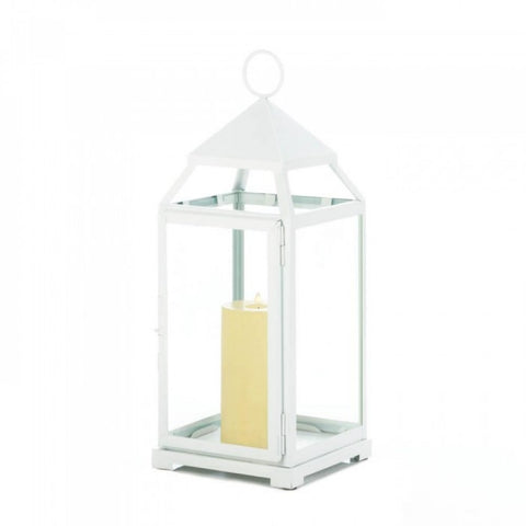 Large White Contemporary Lantern