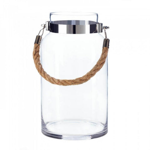 Large Hanging Glass Hurricane