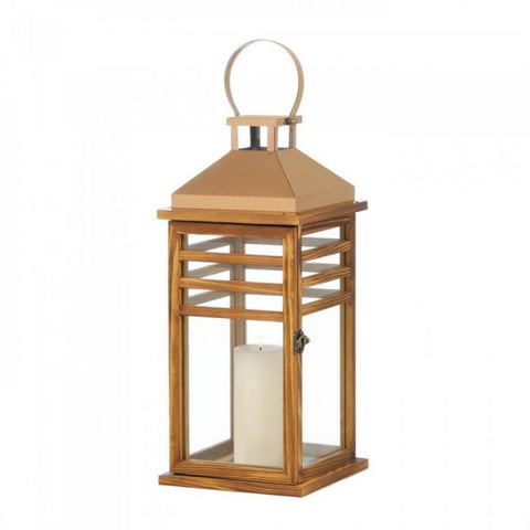 Large Contemporary Rose Gold Top Lantern