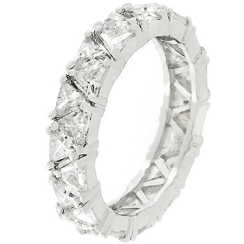 Silver Tone Trillion Fashionista Ring