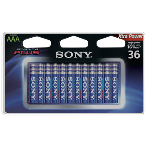 Sony Stamina Plus Alkaline Batteries (aaa; 36 Pk)
