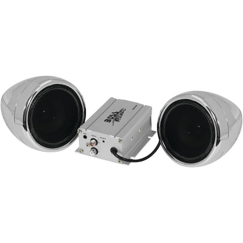 Boss Audio 600-watt Motorcycle And All-terrain Speaker & Amp System (without Bluetooth, Silver)