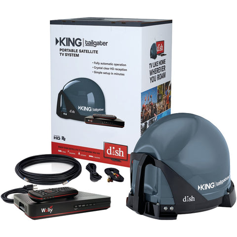 King Tailgater Bundle With Dish Hd Receiver