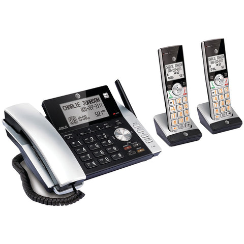 Att 2-handset Corded And Cordless Answering System