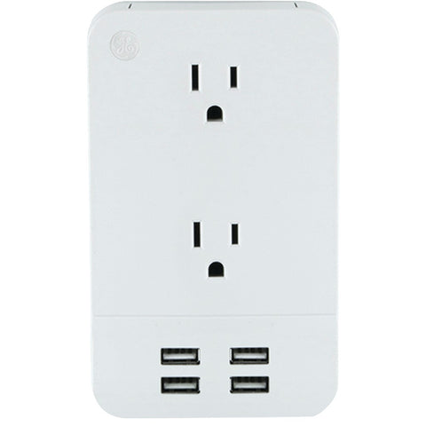 General Electric 2-outlet Surge-protector Wall Tap With 4 Usb Ports
