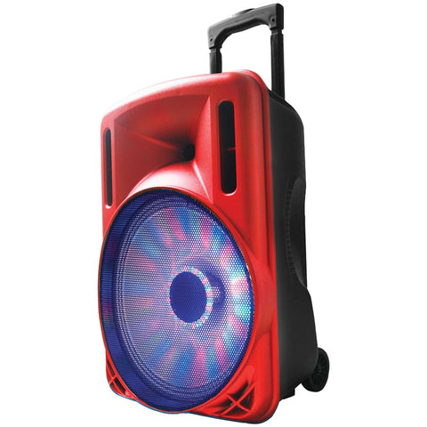 "Supersonic 12"" Portable Bluetooth Dj Speaker (red)"