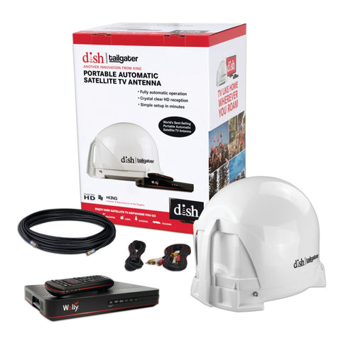 King Dish Tailgater Portable Satellite Tv System Bundle