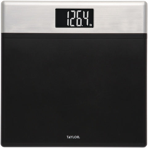 Taylor Precision Products Textured Black Digital Scale With Glass Core