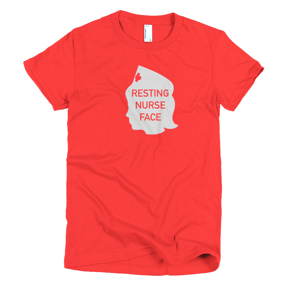 Resting Nurse Face Women's Tee - Future Professionals Apparel, LLC.