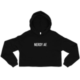 Nerdy AF - Women's Crop Hoodie - Future Professionals Apparel, LLC.