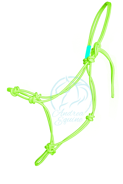 Stiff 4-Knot Lime Clinician Training Halter - Andrea Equine