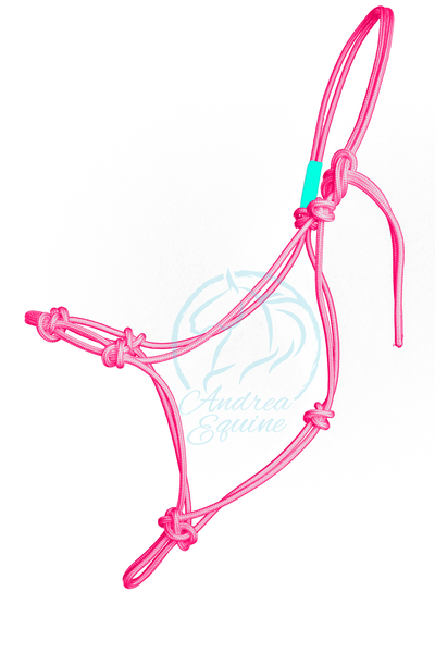 Stiff 4-Knot Pink Clinician Training Halter - Andrea Equine