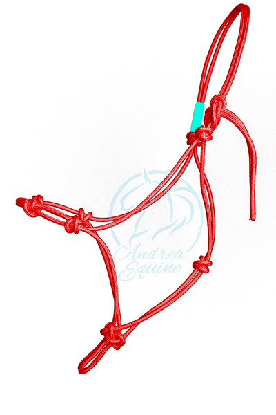 Stiff 4-Knot Red Clinician Training Halter - Andrea Equine