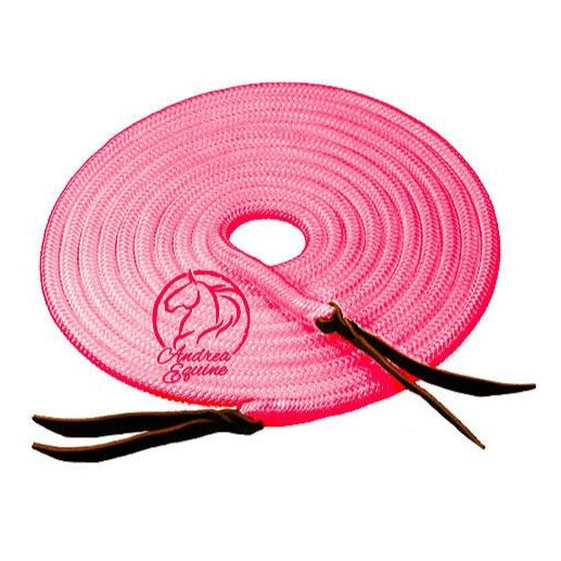 22 Ft Clinician Pink Mecate Reins-Andrea Equine