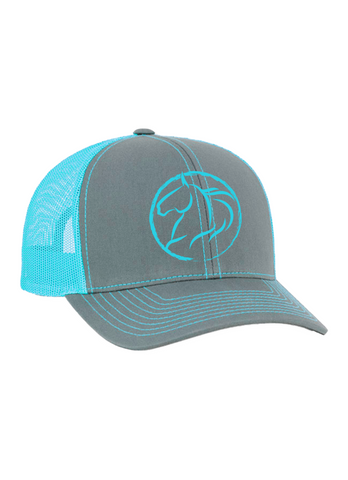 Andrea Equine Embroidered Trucker Hat-Turquoise