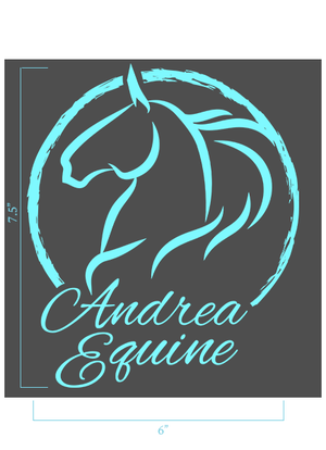 "Andrea Equine Large Vinyl Sticker 6"" x 7.5"" - Andrea Equine"