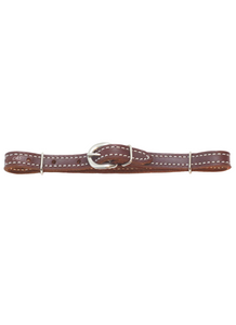 Natural Harness Leather Curb Strap-Andrea Equine