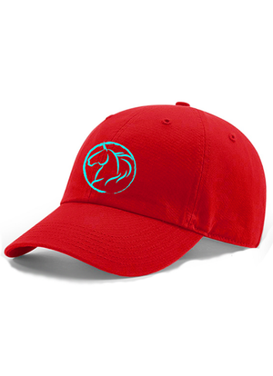 Andrea Equine Dad Hat-Red - Andrea Equine
