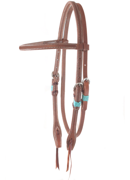"""SLO"" Rawhide Harness Browband Headstall - Andrea Equine"