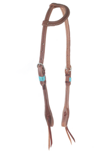 """SLO"" Rawhide Harness One Ear Headstall - Andrea Equine"
