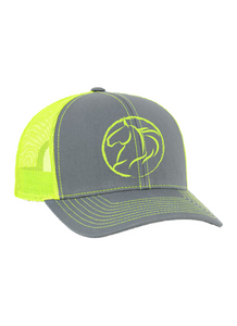 Andrea Equine Embroidered Trucker Hat-Neon
