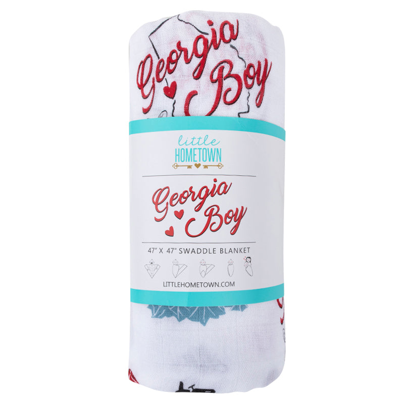 Georgia Boy Baby Swaddle Blanket
