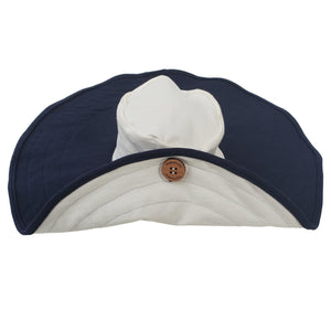 Mobobaby Eco Breastfeeding + Sun Hat - Nautical Navy