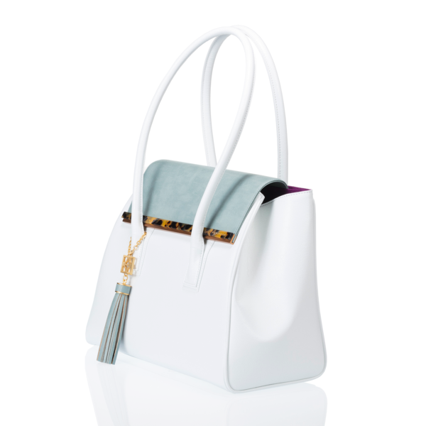 ARIANNA Sabae-Clear: Flap shoulder bag(WH_SX_BRbar)