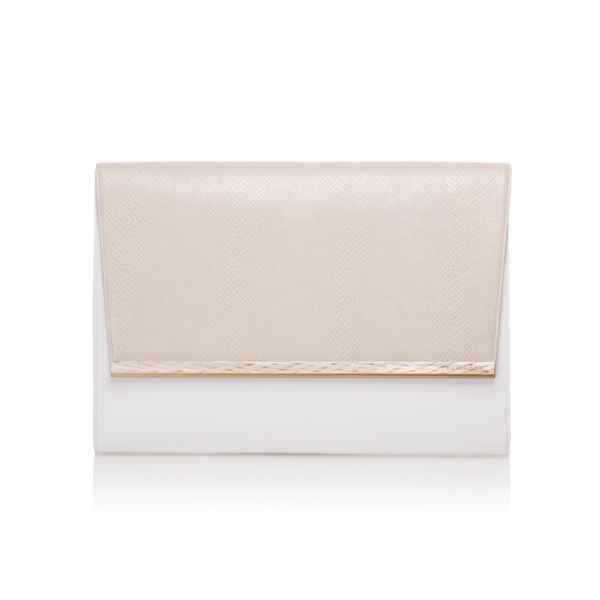 DANA Sabae-Clear: Large clutch bag(WH_IVSN_WHbar)
