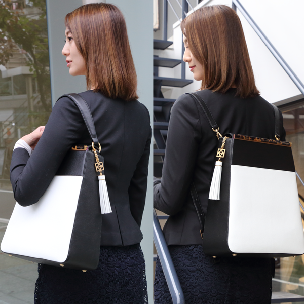 EMMA Sabae-Clear: 2way shoulder bag (BE_BK)