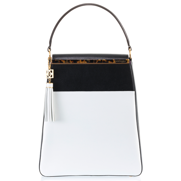 EMMA Sabae-Clear: 2way shoulder bag (WH_BK)