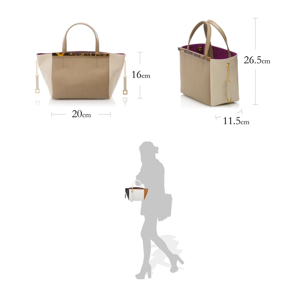 GINA  baby Sabae-Clear: Mini tote bag (WH_MGY_MBK)