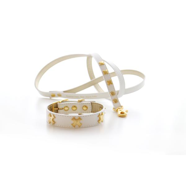 WILLA: Collar & Leash set (WH)【S】