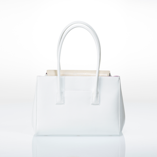 ARIANNA Sabae-Clear: Flap shoulder bag (WH_IVSN)