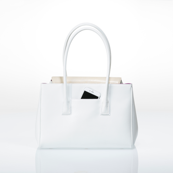 ARIANNA Sabae-Clear: Flap shoulder bag (WH_BWSN_BKbar)
