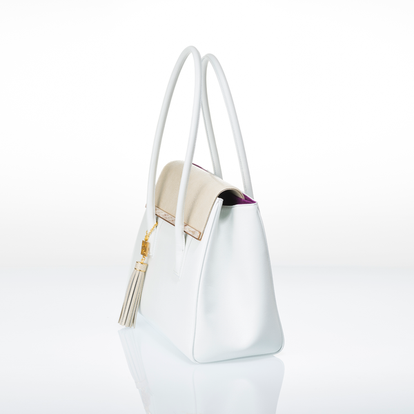 ARIANNA Sabae-Clear: Flap shoulder bag (WH_WH)