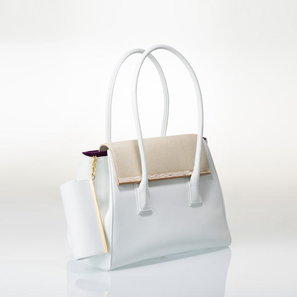 ARIANNA Sabae-Clear: Flap shoulder bag (WH_BWSN_WHbar)