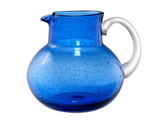 IRIS PITCHER, 90 OZ., COBALT BLUE