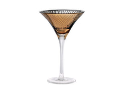 ZEBRA GOLD FOIL MARTINI, 8 OZ.
