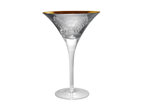 BROCADE MARTINI, 8 OZ., SILVER
