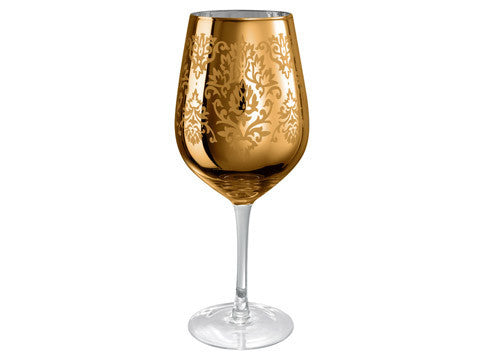 Brocade Goblet, 27 OZ., Gold