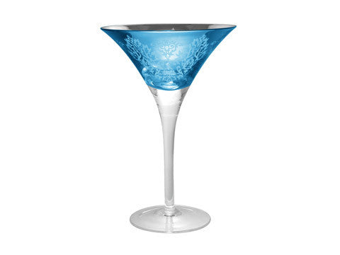 BROCADE MARTINI, 9 OZ., BLUE