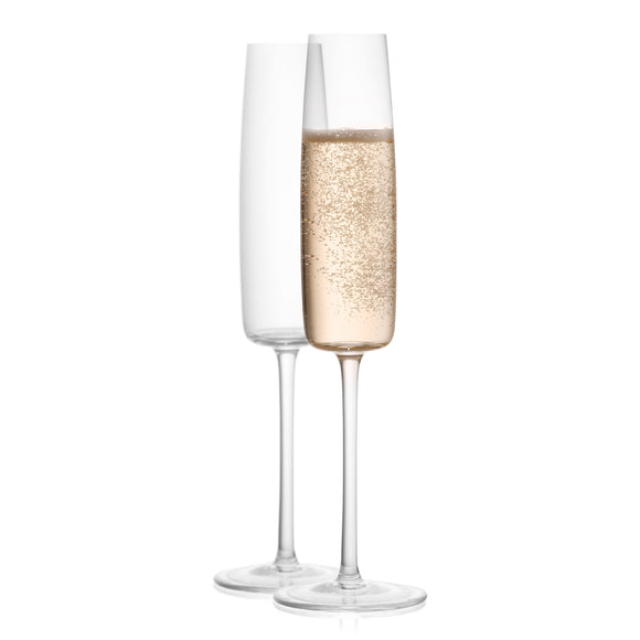 Amara Champagne Glasses - 6 oz - Set of 2