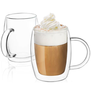 Aroma Double-Wall Insulated Coffee Mugs 13.5 oz - Set of 2