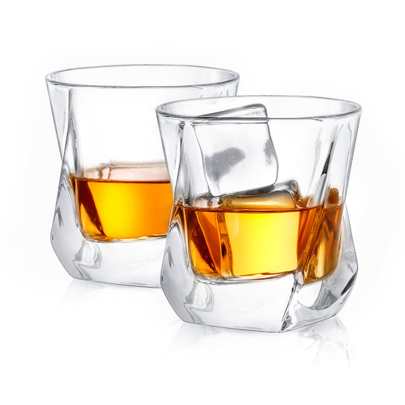 Aurora Crystal Whiskey Glasses - 8.1 oz - Set of 2