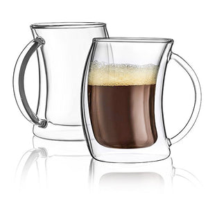 Caleo Double-Wall Insulated Coffee Mugs - 5.4 oz - Set of 2